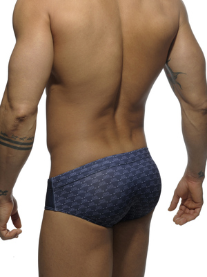 Addicted Marine Print Brief Navy (ADS088)