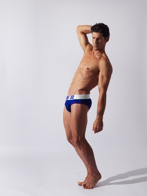 CODE 22 Double Seam Sport Brief Blue