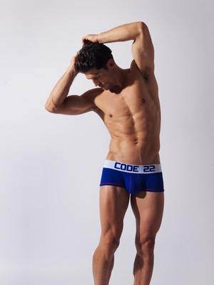 CODE 22 Double Seam Sport Boxer Blue