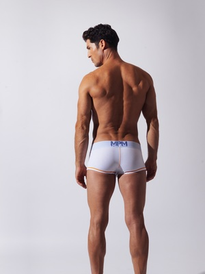 CODE 22 Double Seam Stripe Boxer White