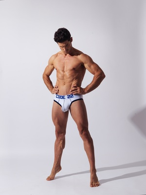 CODE 22 Full Front Brief White