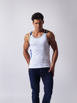 CODE 22 Razor Back Tanktop White   ***Product of the month***