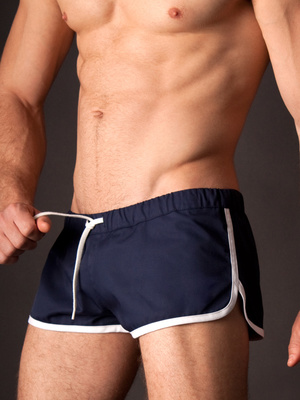 Barcode Gym Short Barcode Navy - White