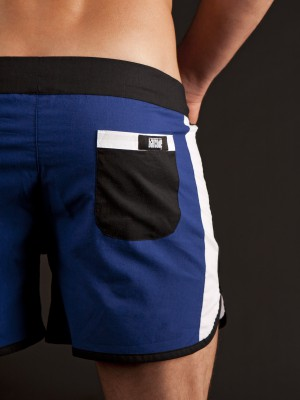 Barcode Beach Short Basic Royal/White