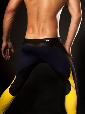 Barcode Athletic Pant Navy/Yellow