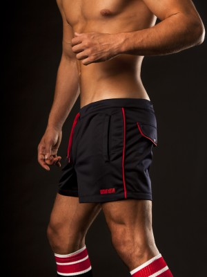 Barcode Berlin Athletic Short Navy/Red