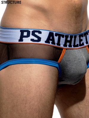 PRIVATE STRUCTURE Athlete 99 See Through Brief Black