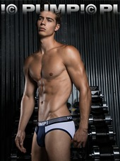 PUMP! Ribbed Brief Navy