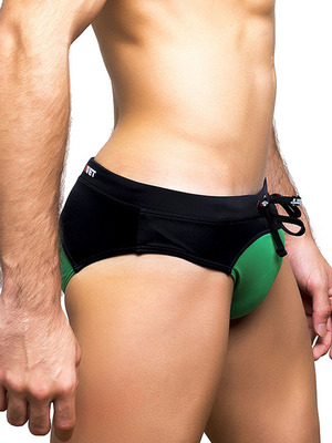 BWET Swimwear Swim Briefs Utah Green/Black