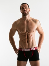 CODE 22 Square Cut Boxer Black