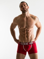 CODE 22 Square Cut Boxer Red