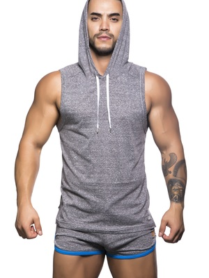 Andrew Christian Vibe Gym Hoodie Vintage Heather