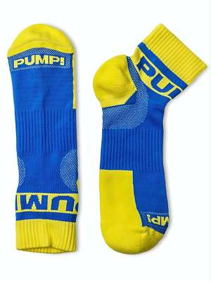 Pump! All-Sport Spring Break Socks Blue/Yellow