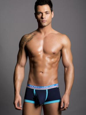 Andrew Christian Tighty Whitie Fly Tagless Boxer Navy