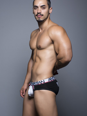 Andrew Christian Varsity Brief W/ Show-It Black