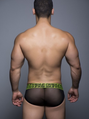 Andrew Christian FUKR Mesh Brief Black