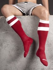 Barcode Football Socks Red/White