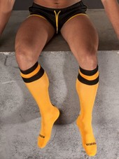 Barcode Football Socks Yellow/Bl