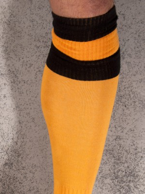 Barcode Football Socks Yellow/Black