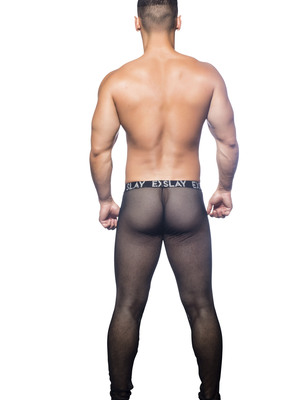Andrew Christian Slay Net Legging W/Almost Naked Black