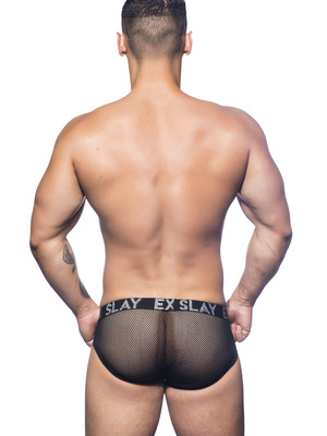 Andrew Christian Slay Net Brief W/Almost Naked Black