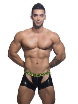 Andrew Christian FUKR Gloss Chap Y-Back Thong Black