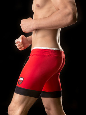 Barcode Retro Sport Short Marcos Red
