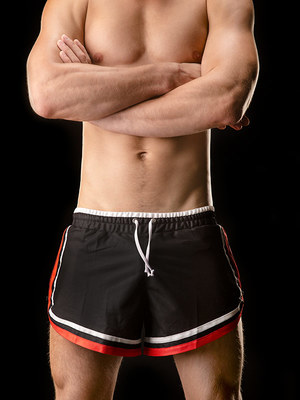 Barcode Shorts Rogério Black/Red/White