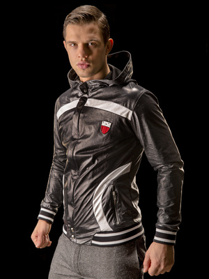 Barcode Hoody Jacket Jupiter Star, black-white