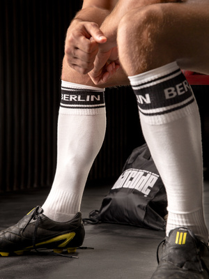Barcode Identity Football Socks BERLIN, White-Black