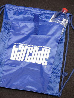 Barcode Drawstring Bag Royal