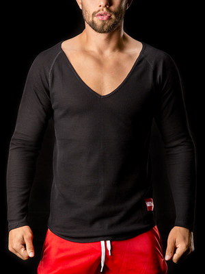 Barcode Thermo V-Neck Mark Black