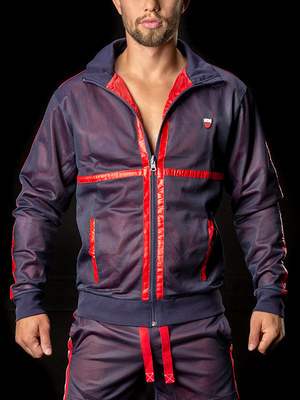 Barcode Double Face Jacket Ivo Navy-Red