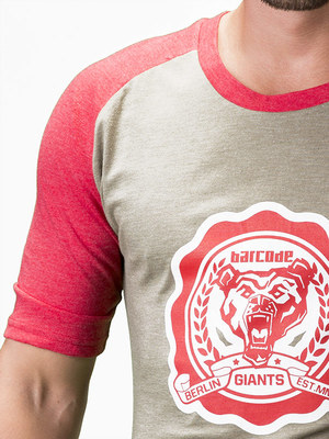 Barcode Berlin T-Shirt Yale Army/Red