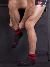 Barcode Socks Petty Black/Red