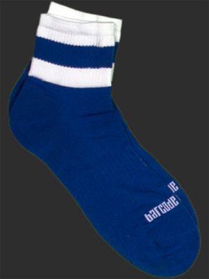 Barcode Socks Petty Blue/White