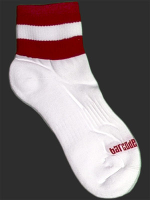 Barcode Socks Petty White/Red