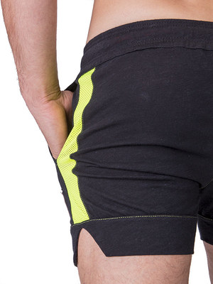 Barcode Short Malcom Black - Neon Green