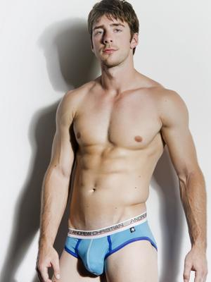 Andrew Christian Show-It Tech. Low Profile Brief Turquoise