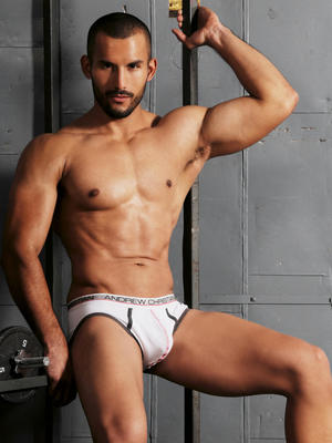 Andrew Christian Show-It Tech. Low Profile Brief White