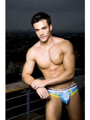 Andrew Christian New Air Jock w/ Show-It Tech Powder Blue