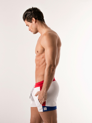 CODE22 Quick Dry Gym Short White