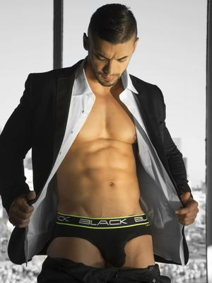Andrew Christian Black Collection Brief Black