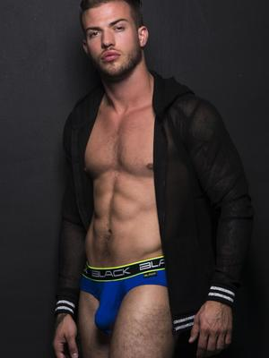 Andrew Christian Black Collection Brief Royal