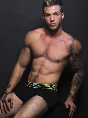 Andrew Christian Black Collection Boxer Black