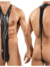 Candyman Sleek Zip Singlet Thong