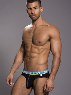 Andrew Christian Happy Brief Black
