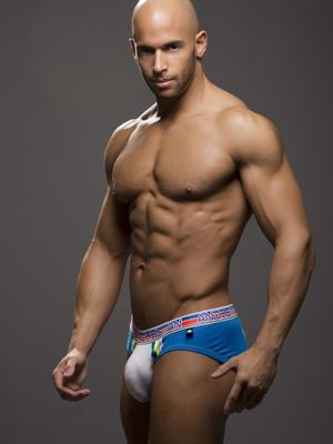 Andrew Christian Varsity Brief w/Show-It Electric Blue
