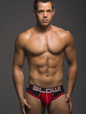 Andrew Christian BLOW! Brief Jock w/ Show-It Black/Red