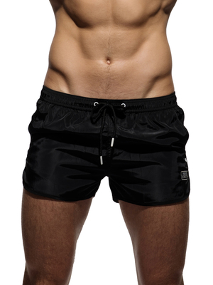 PRIVATE STRUCTURE HI-SHEEN Running Shorts Black